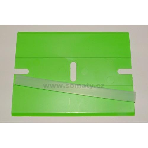 Škrabka plastová s ochranným krytem (zelená)